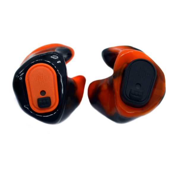 Vario Revolutions in neon orange and black silicone with orange and black modules