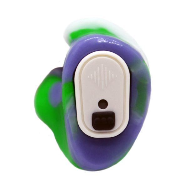Vario Revolution in purple, neon green and white silicone with white modules