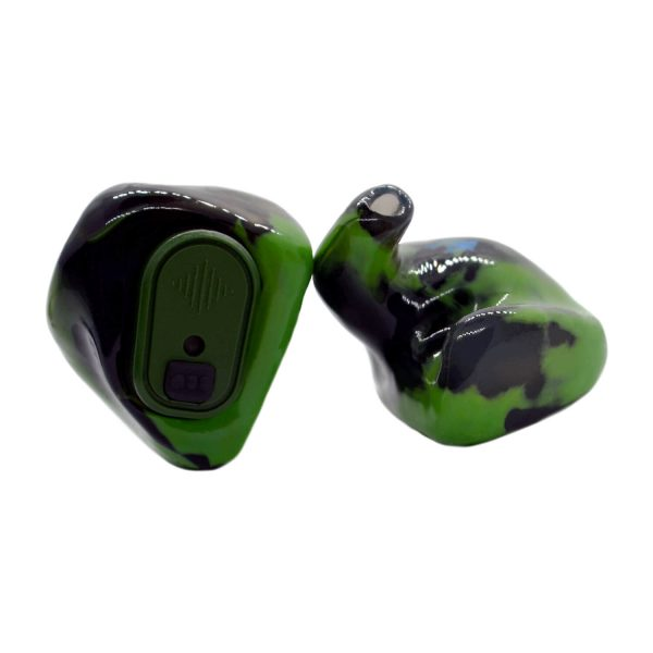 Black, opaque green and smoke silicones with a leaf green Vario Revolution module